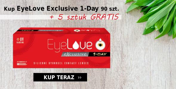 Kup EyeLove Exclusive 1-Day 90 szt. + 5 sztuk GRATIS!!