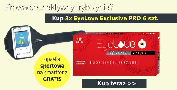 Kup 3 op. EyeLove Exclusive 1-Day + opaska do smartfona GRATIS!