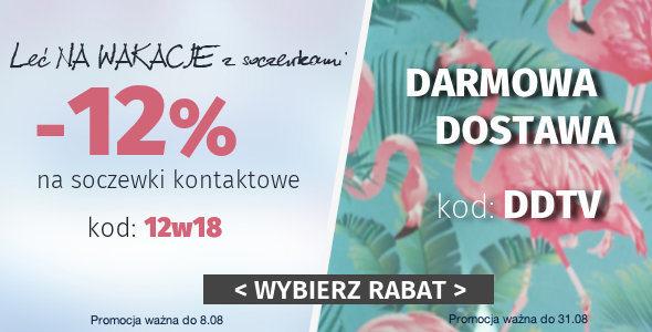 Darmowa dostawa lub 12% rabatu na Soczewki Kontaktowe!