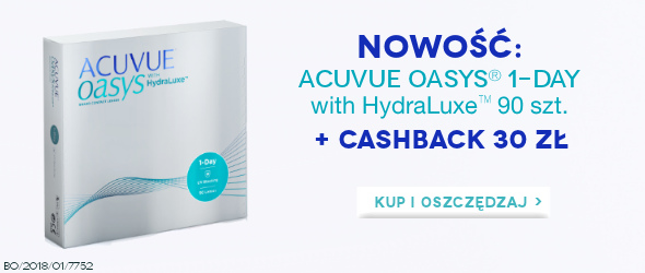 Kup ACUVUE OASYS 1-Day 90 szt. + cashback 30 zł!!