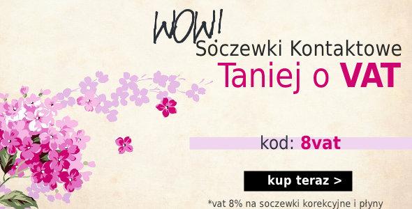 -8% na Soczewki Kontaktowe!