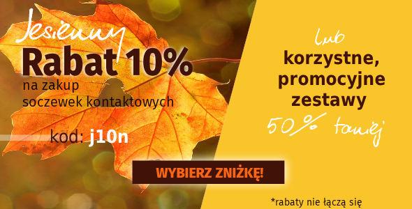 -10% a Soczewki lub -50% na zestawy!