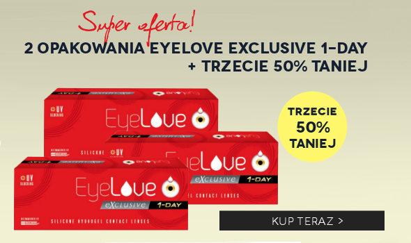 Kup zestaw: 2 op. EyeLove Exclusive 1-Day + trzeci 50% taniej!