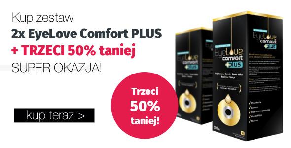 Kup zestaw: 2x EyeLove Comfort PLUS 360 ml + trzeci 50% taniej!