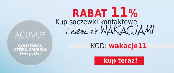 -11% na Soczewki Kontaktowe!