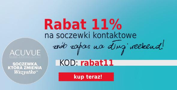 Rabat 11% na Soczewki Kontaktowe!