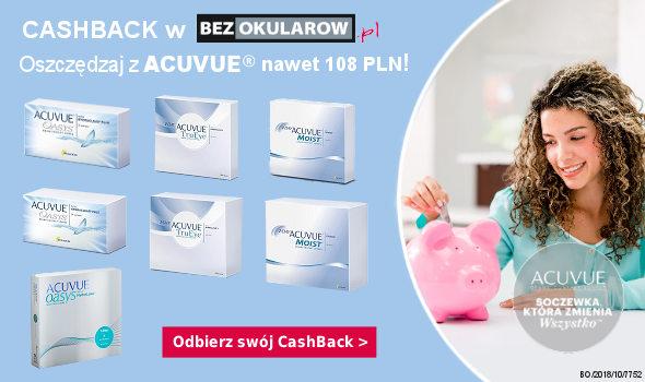 CashBack z ACUVUE - nawet 108 PLN zwrotu na konto!