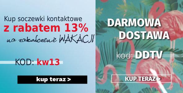Rabat 13% na Soczewki Kontaktowe!