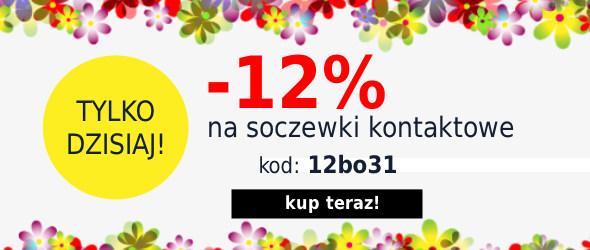 Rabat 12% na Soczewki Kontaktowe!