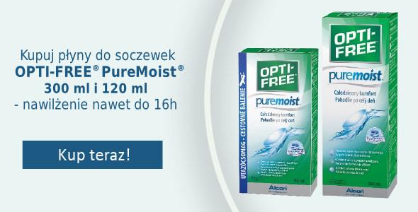 Płyn do soczewek OPTI-FREE PureMoist - dodatkowe nawilżenie nawet 16h!